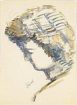 ALEKSANDR TYSHLER, watercolor on paper, signed.