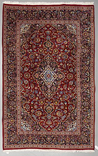 A carpet, keshan, ca 300 x 196 cm.