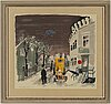 Olle olsson-hagalund, lithograph in colours, signed 101/360.