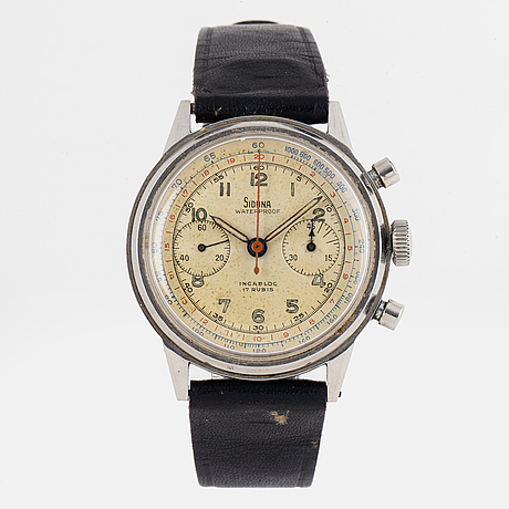 Siduna, chronograph, wristwatch, 38 mm.
