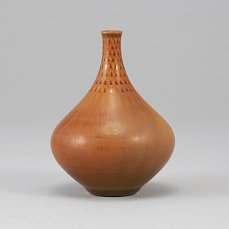 Stig lindberg, a stoneware vase from gustavsberg studio.