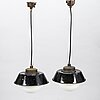Paavo tynell, two 1930's '2521-53' industrial light for taito finland.