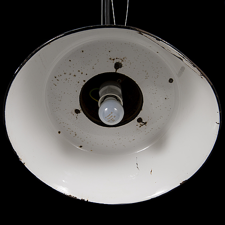 A industrial lamp by paavo tynell for taito oy, finland.