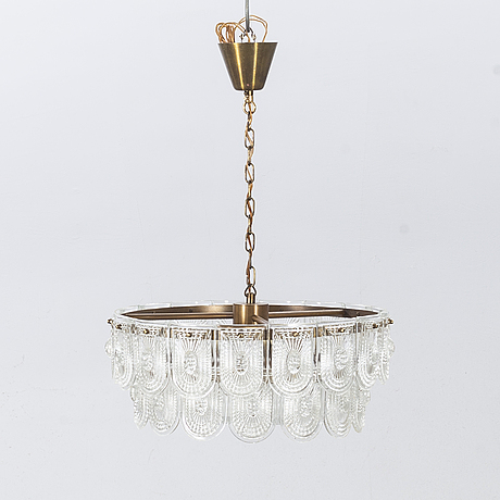 A second half ot the 20th century, probably orrefors ceiling lamp.
