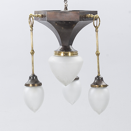 A mid 20th century jugend style ceilinglamp.