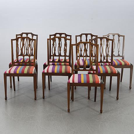 Matbord samt 8 stolar nordiska kompaniet 1920-tal.
