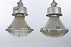Industrilampor 2 st 1900-tal.