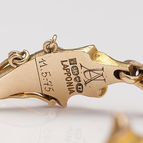 "BjÖrn weckstrÖm, armband ""bali"", 14k guld. lapponia 1975."