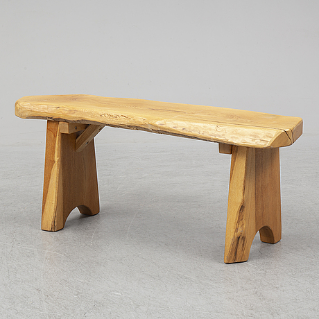 A second half of the 20th century pine bench.