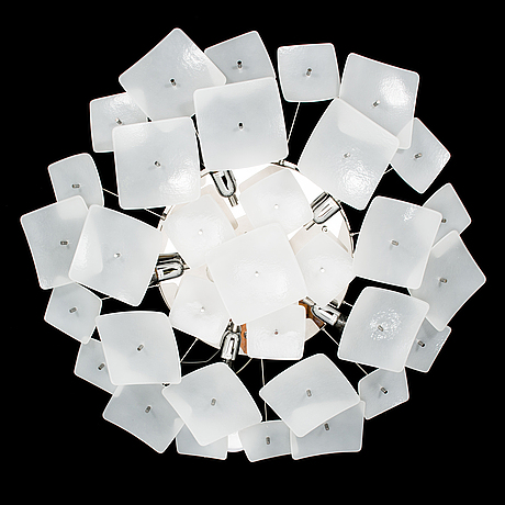 A ceiling lamp by claudio marturano manufactured by flaver italy 21th century.