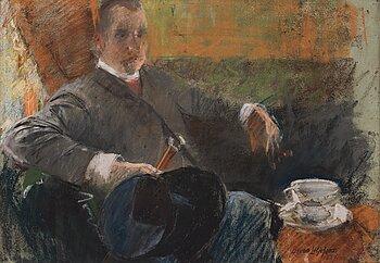 336. Bruno Liljefors, Porträtt av konstnärens bror Pontus Julius Liljefors (1864-1942).