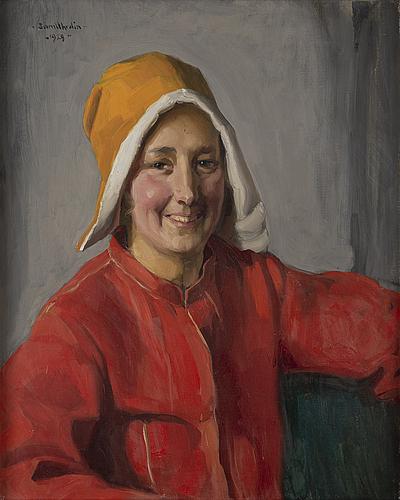 Sam uhrdin, oil on canvas, signed and dated 1929.