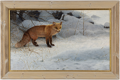 Lennart sand, oil on canvas, signerad and dated -95.