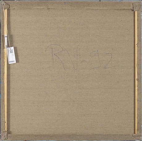 Raimo veranen, acrylic on canvas, a tergo signed -92.