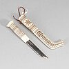 Tore sunna, a sami reindeer horn knife, signed tore sunna.