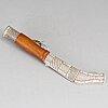 Bertil andersson, a sami reindeer horn knife, jokkmokk, signed.