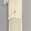 Sven-erik lampinen, a sami reindeer horn knife, kiruna, signed.