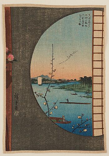 Tryck, åtta stycken. japan, 1900-tal, bl.a. hiroshige, efter.