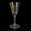 A set of six armorial glasses, presumably german, 20th century.