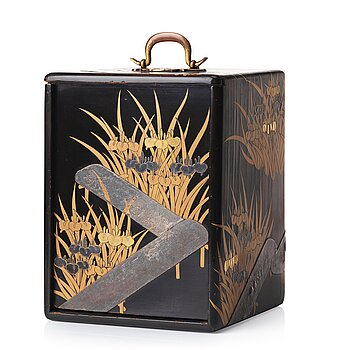 610. A Japanese lacquered box with four drawers, Meiji period (1868-1912).