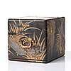 A japanese lacquered box with four drawers, meiji period (1868-1912).