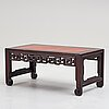 A hardwood kang table, china, early 20th century.