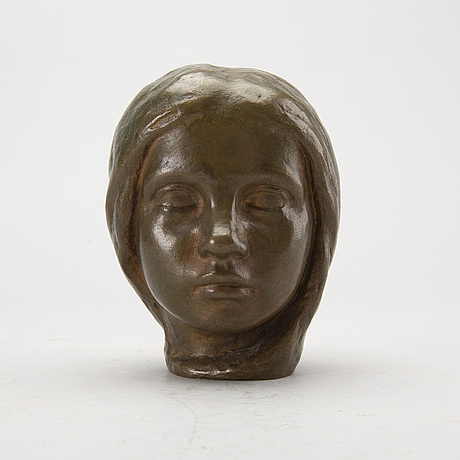 Johannes collin, bronze scupture, signed and dated 1910.