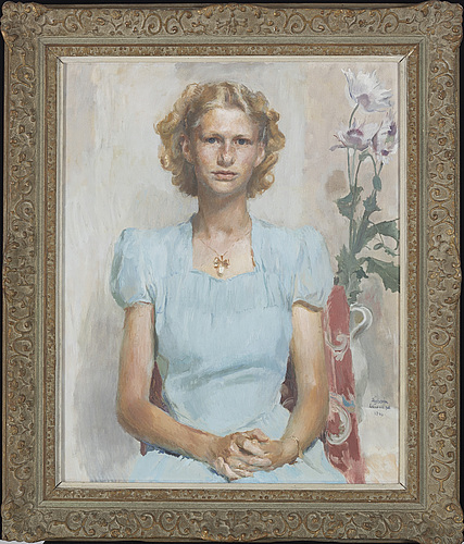 David tÄgtstrÖm,  oil on canvas, signed and dated 1946.