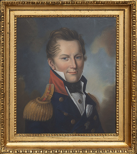 An early 19th century portrait of a man i uniform.