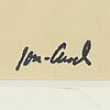 John jon-and, charchoal, signed with stamp.