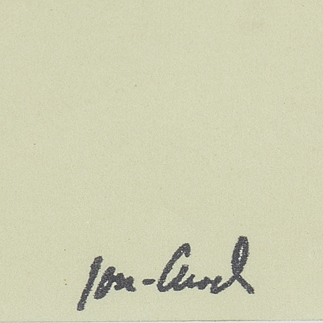 John jon-and, ink on paper. stamped signed.
