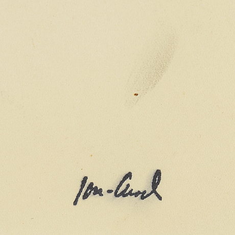 John jon-and, drawing. signed with stamp.