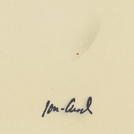 John jon-and, tuschteckning. stämpelsignerad.