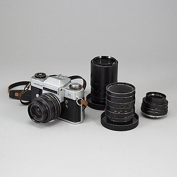 LEICAFLEX SL, with 4 lenses.