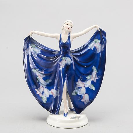 Stefan dakon, a 1930's earthware goldscheider figurine.