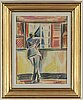 John jon-and, pastel on paper, signed with stamp, executed 1922.