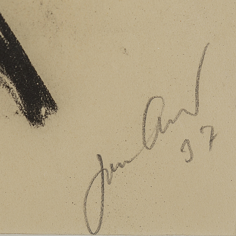 John jon-and, ink. signed and dated -37.