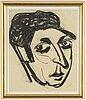 John jon-and, porträtt av isaac grünewald,  pastell på papper, signerad jon-and och daterad -37.