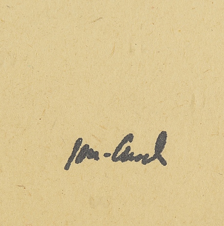 John jon-and, ink. signed with stamp.