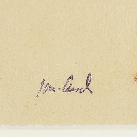 John jon-and, 2 st, tusch resp rödkrita på papper, en signerad, en stämpelsignerad.
