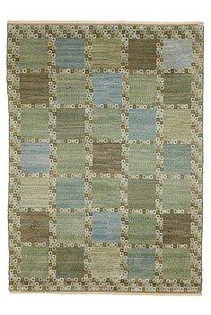 "187. Barbro Nilsson, A carpet, ""Gröningen"", knotted pile, ca 241-241,5 x 170,5-173,5 cm, signed AB MMF BN."