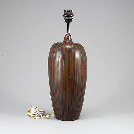A stoneware table lamp by carl harry stålhane for rörstrand.