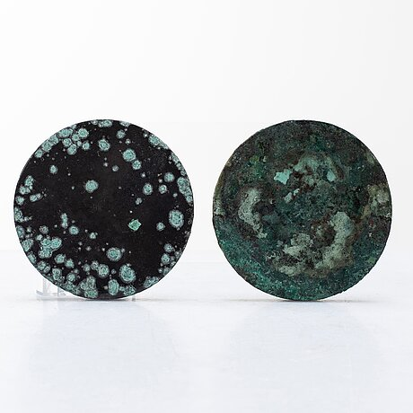 Two bronze mirrors with mythical animals,  tang dynasty (618–907).