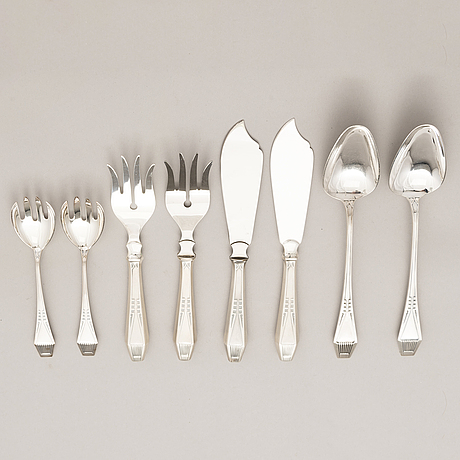 A 40-piece set of 'suomi' silver cutlery, turku, finland 1919-1996.