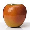 Hans hedberg, a faience sculpture of an apple, biot, france.