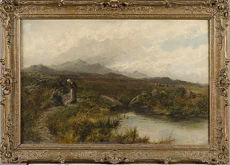 Thomas scott callowhill, oil on canvas, signed and dated 1880.