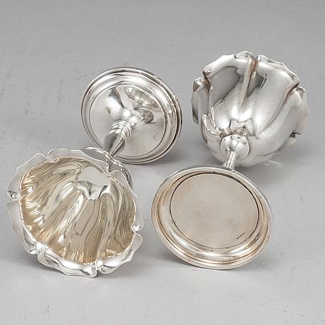 A set of twelve 20thcentury sterling silver dessert-glasses.