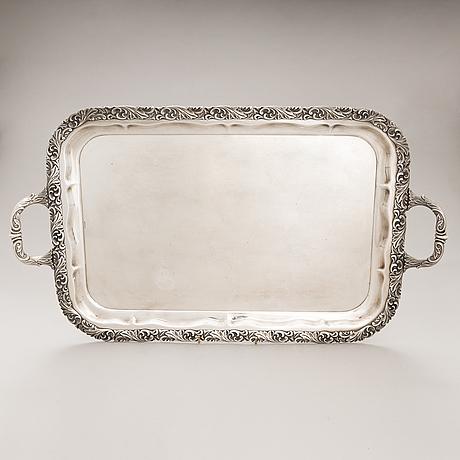 A silver tray, auran kultaseppä oy, turku finland 1955.