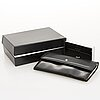 Montblanc leather wallet.