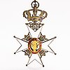 The order of vasa, commanders neck badge, gilded silver and enamel. cf carlman, stockholm.